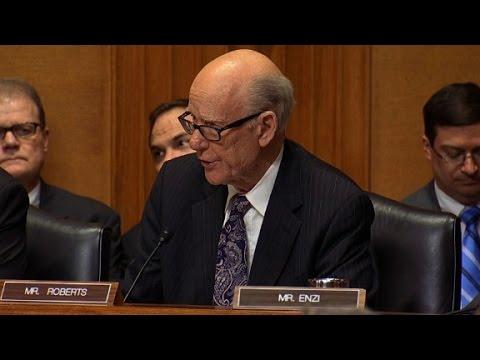Heated exchange in Steven Mnuchin hearing
