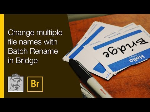 Change multiple file names with Batch Rename in Bridge