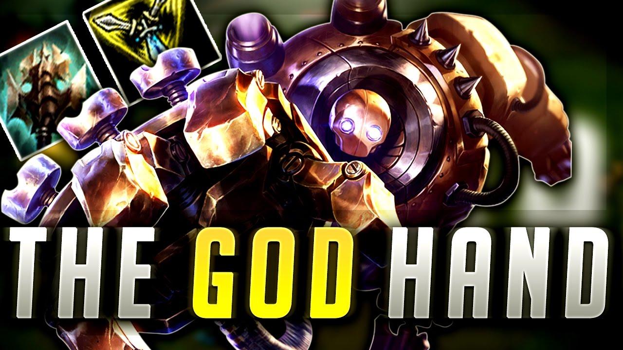 The God Hand Super Op Blitzcrank Top Build League Of Legends Gameplay Youtube