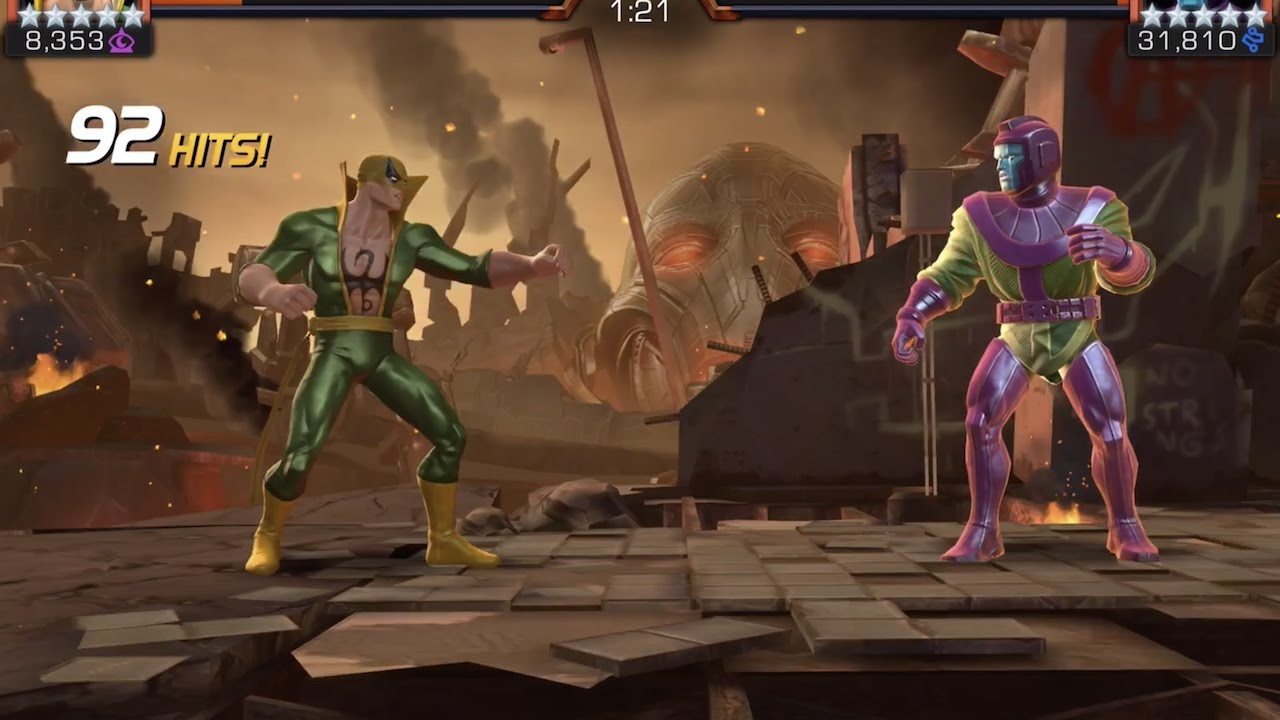 Iron Fist Alliance Quest Map 5 Run and Kang Boss Battle | Marvel Contest of  Champions