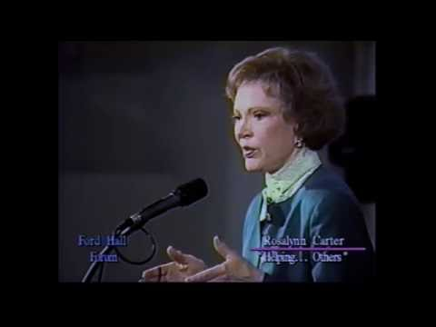 """Rosalynn Carter, """"Helping Yourself Help Others"""" (Ford Hall Forum, 1994)"""