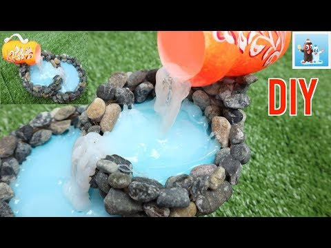 How to Make a Miniature Waterfall for Home Decorations DIY Art and Crafts