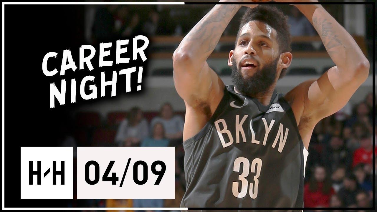 4a46b9e9c Allen Crabbe Full Career-HIGH Highlights Nets vs Bulls (2018.04.09) - 41  Points!