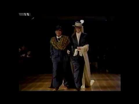 Guests Yohji in the fashion show Takeshi Kitano and Yuya Uchida