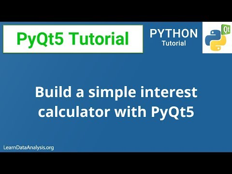 Building a simple interest calculator with PyQt5