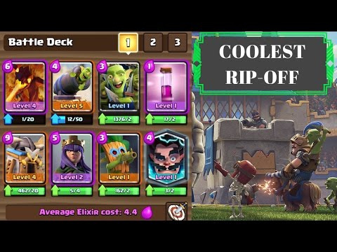 THE COOLEST CLASH ROYALE RIP-OFF EVER !!!!!