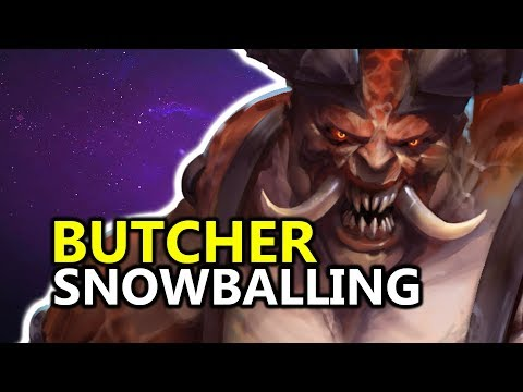 ♥ Butcher Snowballing - Heroes of the Storm (HotS Gameplay)