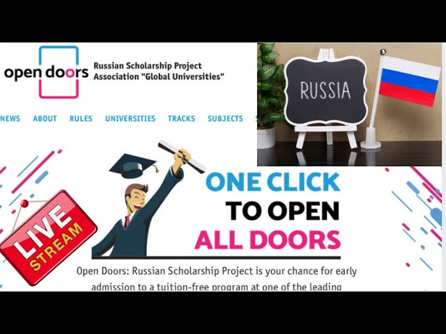 Open Doors Russian Scholarship  for international students (Scholarships to RUSSIA)