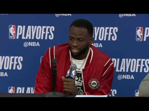 Stephen Curry Kevin Durant and Draymond Green Postgame Interview | Warriors vs Pelicans Game 3