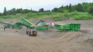 McCloskey Portable Crushing Spread - Jaw, Cone, Screener & Stackers