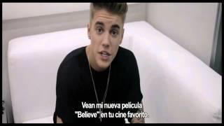 Justin Bieber Saludo a México Believe Movie♥