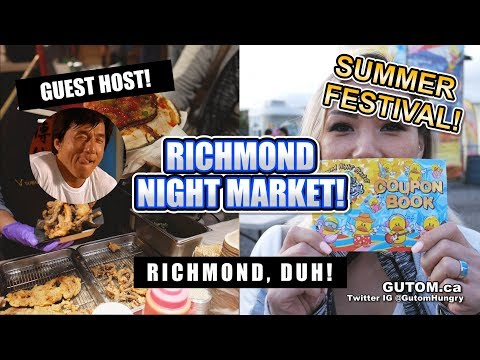 RICHMOND NIGHT MARKET 2019! GUEST HOST SPECIAL EPISODE | Vancouver Food Guide Reviews - Gutom.ca