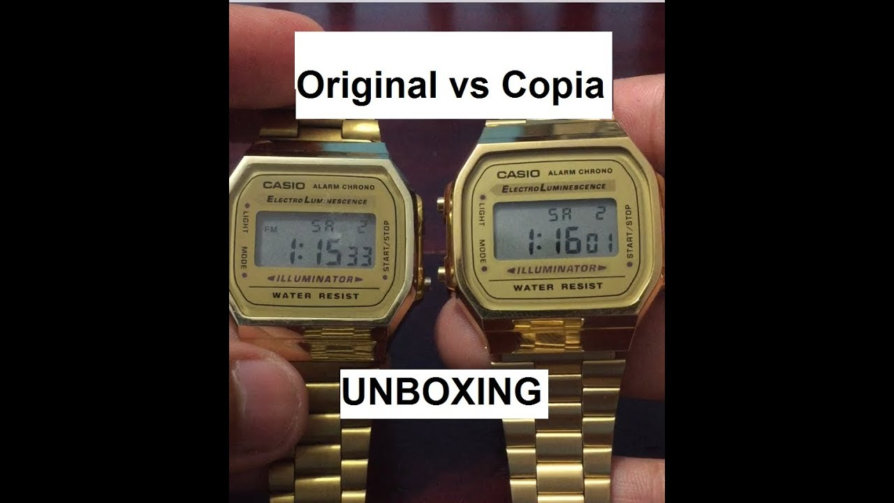 1919cc0ea235 Comparación ORIGINAL vs Copia! - Reloj Casio Vintage Collection ...