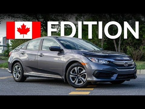2018 HONDA CIVIC LX BASE REVIEW & WALK AROUND (CANADIAN SPEC)