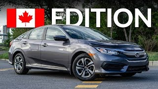 2018 HONDA CIVIC LX BASE REVIEW & WALK AROUND (CANADIAN SPEC)