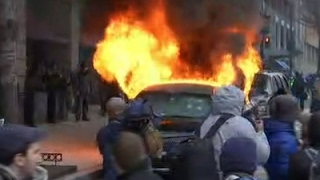 Raw: Vehicle Burns as DC Protests Escalate