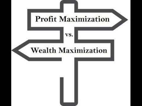 Profit Maximization Vs  Wealth Maximization