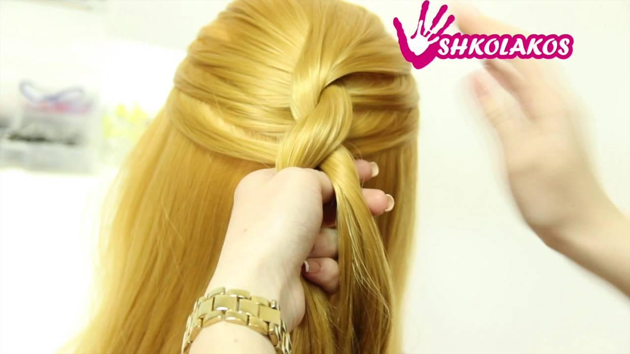 Как сделать себе косу жгут 868