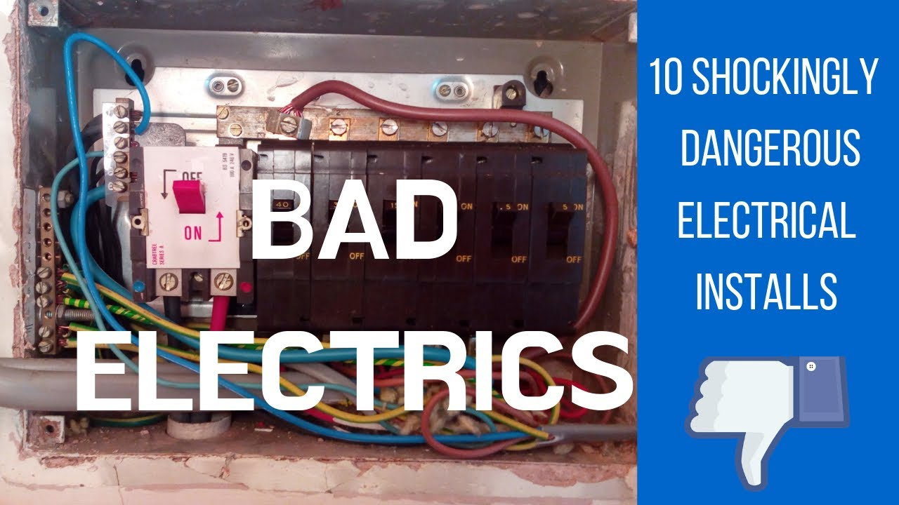 10 Shockingly Dangerous Electrical Installations - Bad Electrics Episode 1  - YouTube | Worst Wiring Diagram |  | YouTube