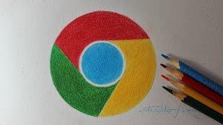 Como desenhar a logo do Google Chrome I How to Draw the Chrome Logo