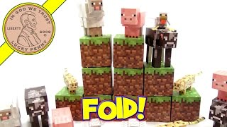 Minecraft Animal Mobs Paper Craft Set - Just Keep Folding!