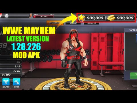WWE Mayhem Hack/Mod Apk 2020 Latest Version 1.28.226 With Unlimited Money And Unlimited Shopping