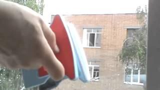 Магнитная щетка для мытья окон и стеклопакетов в Украине.