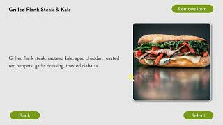 Wichcraft NYC Kiosk User Interface