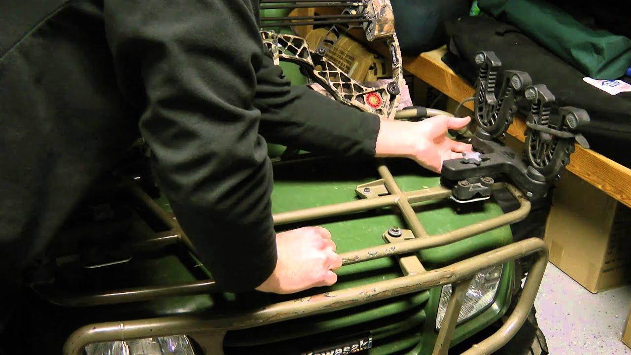 Atv tek flexgrip pro gun bow racks youtube for How to build a side by side
