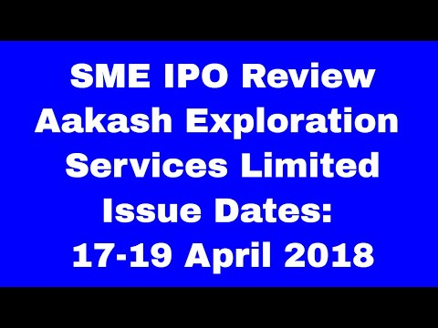 Aakash Exploration Services Limited: SME IPO issue opens 17-19 April March 2018