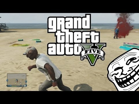 GTA 5 Online Funny Moments - The Flare Game! Hilarious Troll!