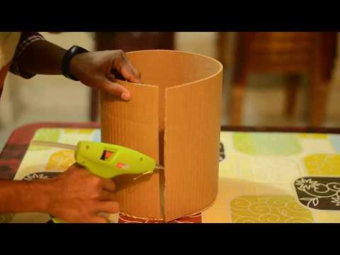 DIY round box made with Cardboard |Cardboard Craft|