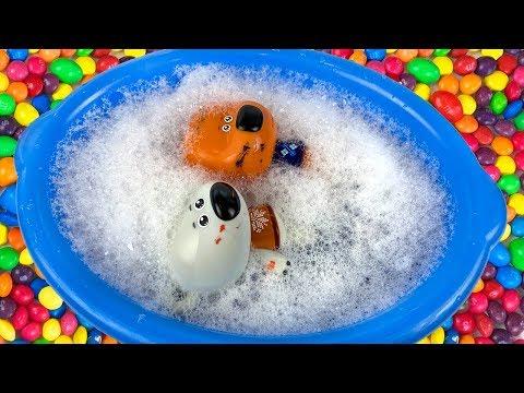 🙈Мишки мультики с игрушками про Кешу и Тучку 😧 Кеша и Тучка купаются в необычной ванне