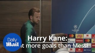 Harry Kane: I want to score as many goals as Lionel Messi