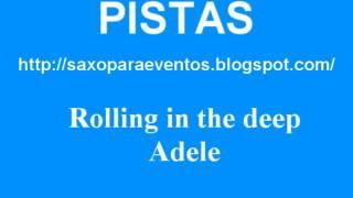 Pista y partitura de Rolling in the deep - Adele