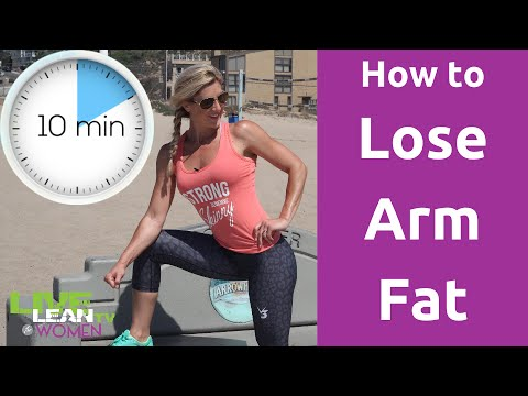 how to lose arm fat 10 min workout  youtube
