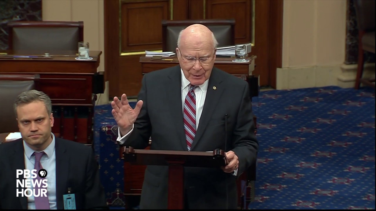 Sen. Patrick Leahy To Preside Over Trump's Senate Impeachment ...