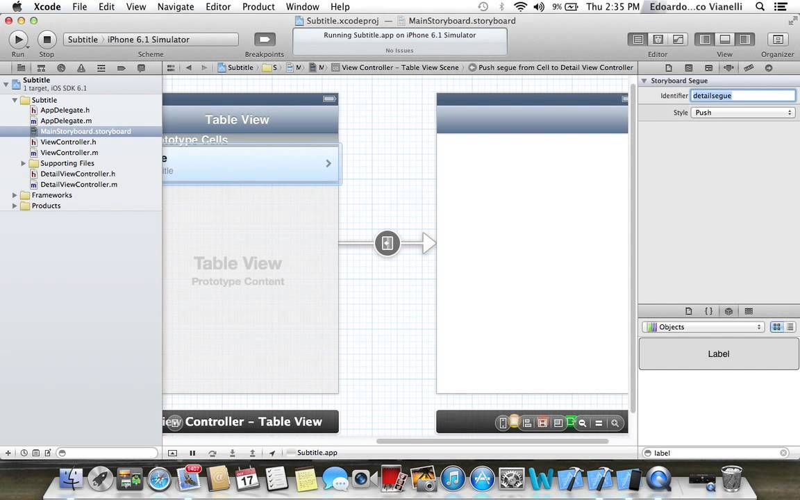 Table view subtitle detail view controller on xcode for Xcode 6 tableview