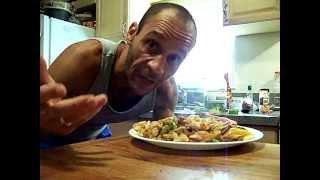 Spicy Steak W/ Havarti, Egg Noodles & Garden Veg ,chef John The Ghetto Gourmet