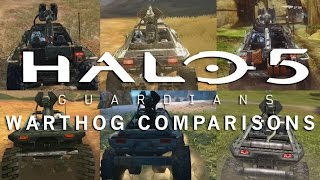 Halo 5: Guardians - Warthog Comparisons (Halo 1-5)