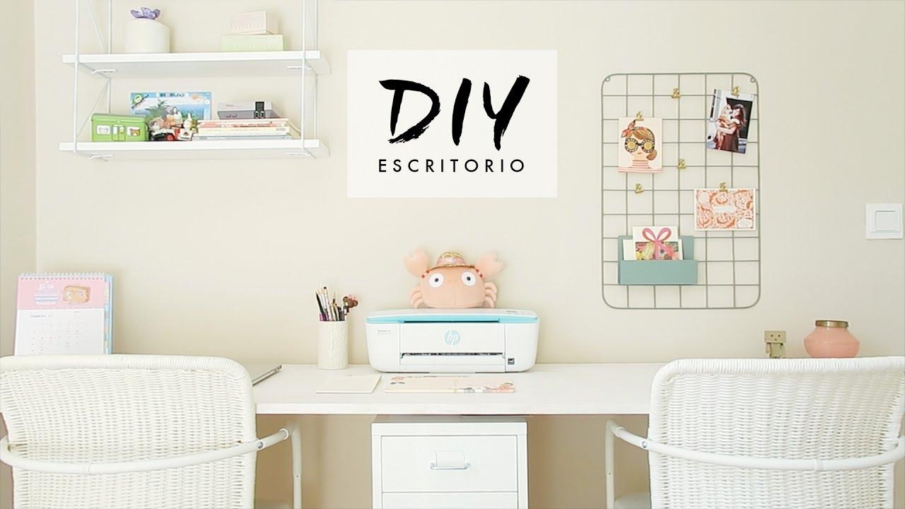Diy haz tu escritorio pinterest youtube for Ideas para decorar escritorio