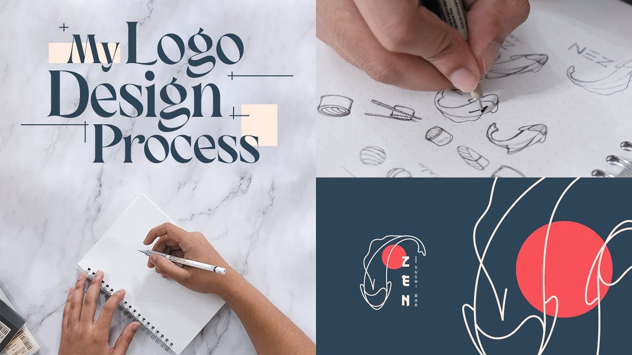 How to Design a Sushi Logo - From Start to Finish.