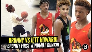 Bronny James vs NBA All-Star Juwan Howard's Son CRAZY 2OT GAME!! Bronny 1ST WINDMILL DUNK!!