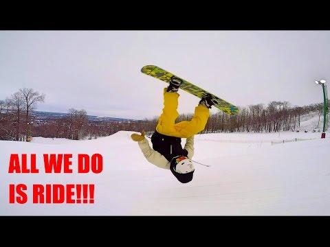 SKETCHY BACKYARD SNOWBOARD JUMP!!! - Vlog #58