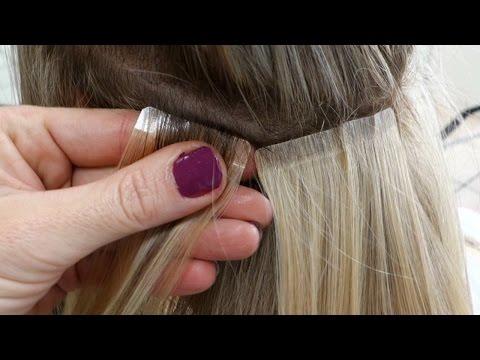 DIY Hair Tape Extensions - Master Hairdresser Johanna Z