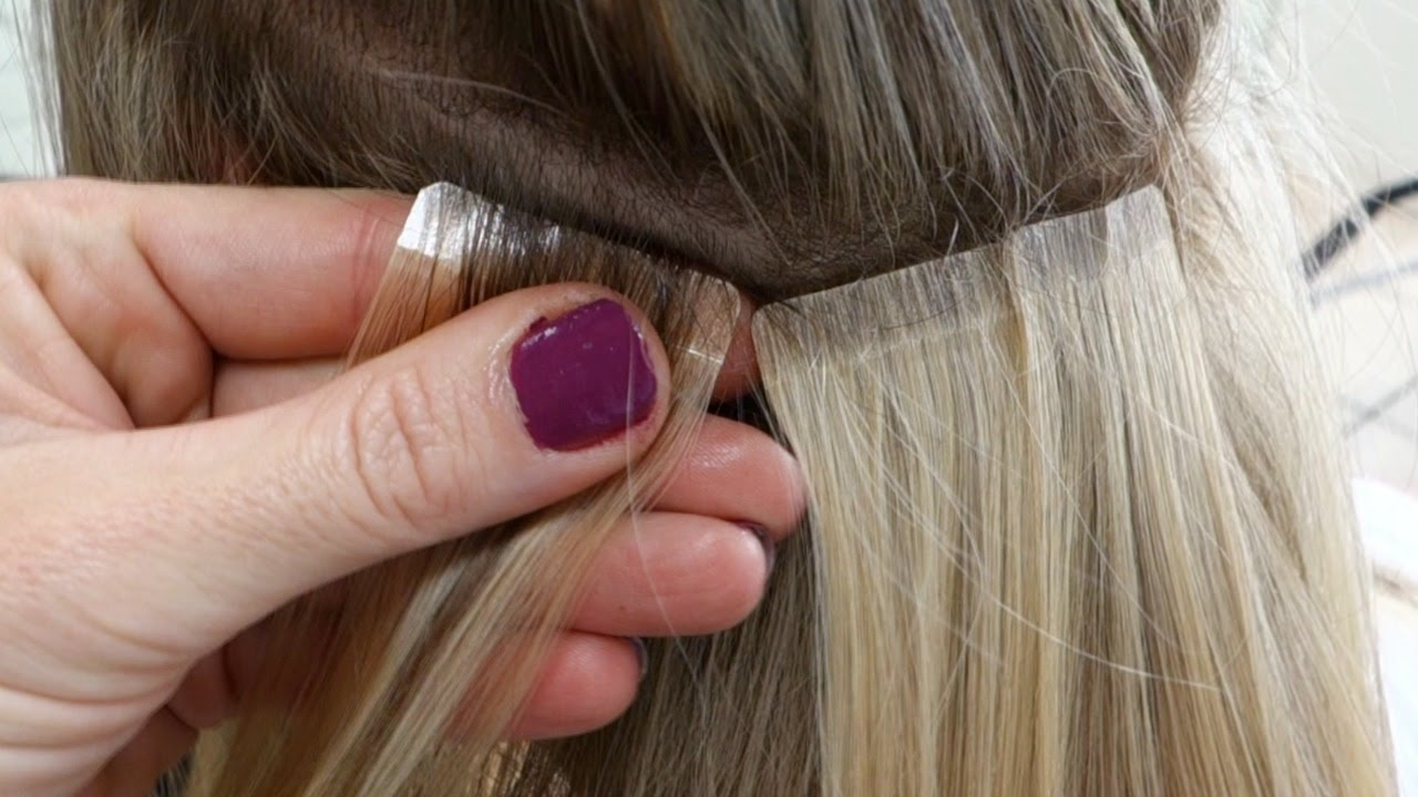 Diy Hair Tape Extensions Master Hairdresser Johanna Z Youtube