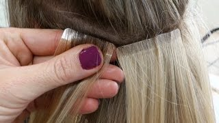 DIY Hair Tape Extensions - Master Hairdresser Johanna Z