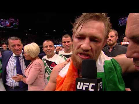 UFC 189: Conor McGregor and Chad Mendes Octagon Interviews ...