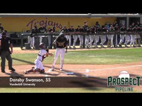 Dansby Swanson Prospect Video, SS, Vanderbilt University #mlbdraft @vandybaseball