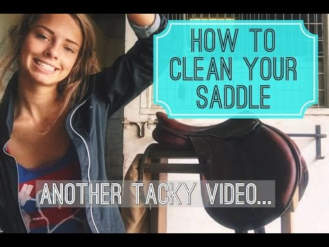 HOW I CLEAN MY SADDLE